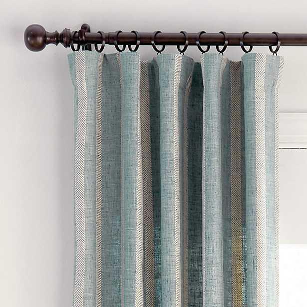 "Spencer Stripe Drapery Panel Light Blue 108"" - Ballard Designs - Ballard Designs"