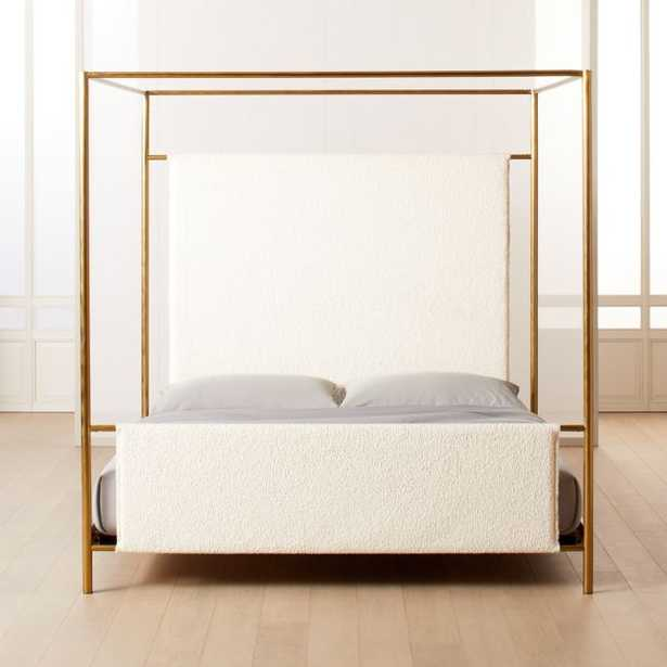 Odessa Shearling Canopy Bed King - CB2