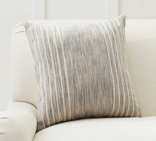 """Liam Eco-Friendly Indoor/Outdoor Pillow, 20 x 20"""", Mineral Blue - Pottery Barn"""