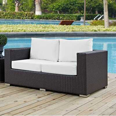 Provencher Patio Loveseat with Cushions - Wayfair