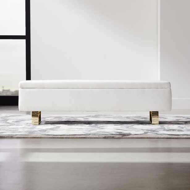 Link Ivory Storage Bench - CB2