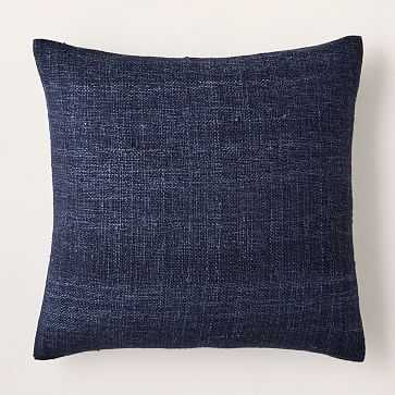 """Silk Hand-Loomed Pillow Cover, 20""""x20"""", Nightshade - West Elm"""
