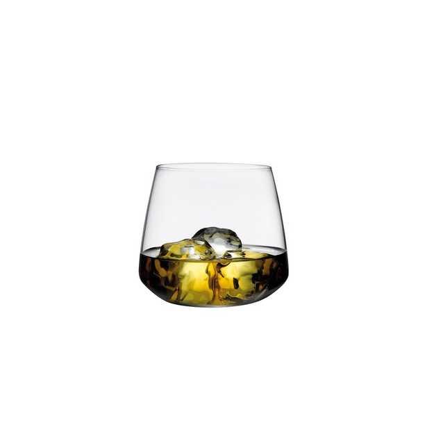Nude Mirage 13 oz. Crystal Whiskey Glass - Set of 4 - Perigold