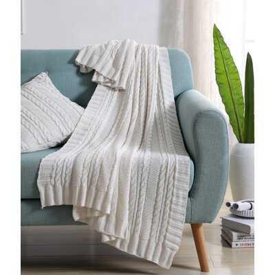 Machias Cable Knit Throw - AllModern