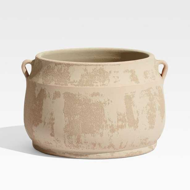 Hyrax Tan Textured Planter - Crate and Barrel