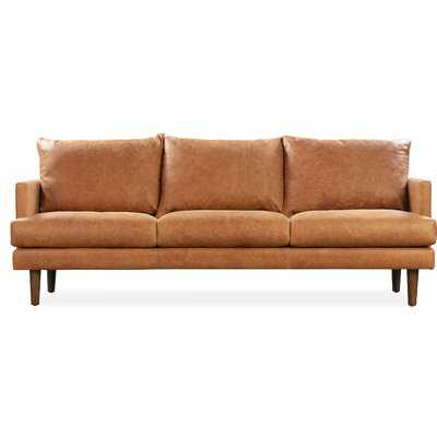 """Underhill 88"""" Genuine Leather Square Arm Sofa with Reversible Cushions - Wayfair"""