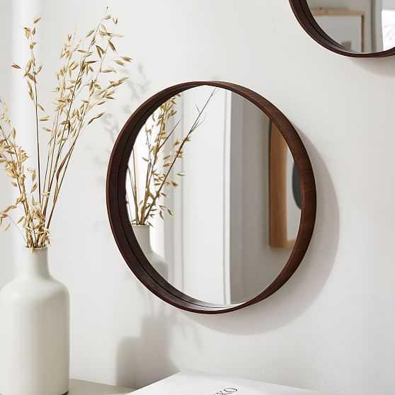 """Maren Wood Mirrors, Walnut, 14"""" - West Elm"""