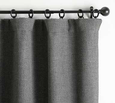 "Chateau Basketweave Curtain, 50 x 96"", Charcoal - Pottery Barn"