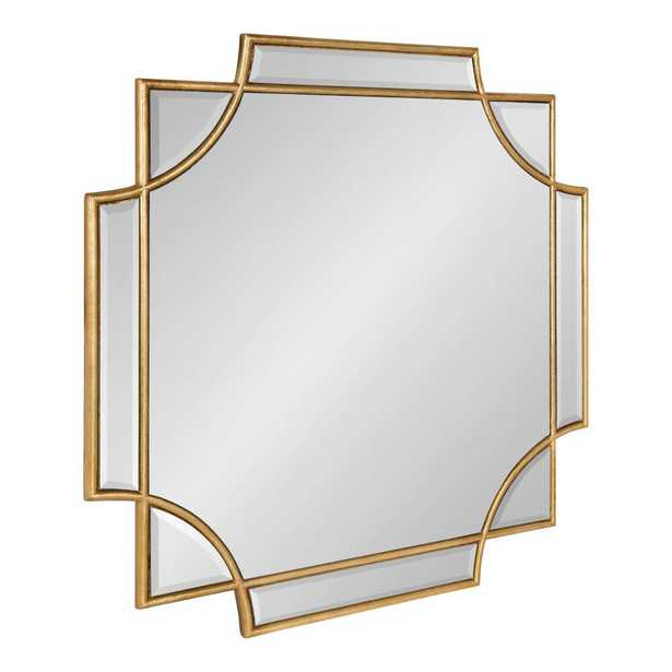 Kate and Laurel Minuette Square Gold Wall Mirror - Home Depot