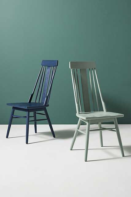 Delancey Dining Chair By Anthropologie in Blue - Anthropologie