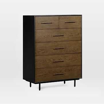 Oak Wood-Wrapped 6-Drawer Dresser - Tall - West Elm