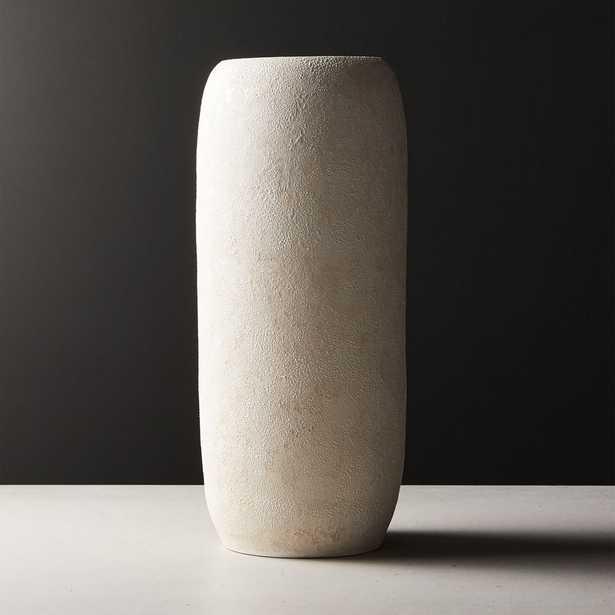 Palmilla Ivory Textured Vase - CB2