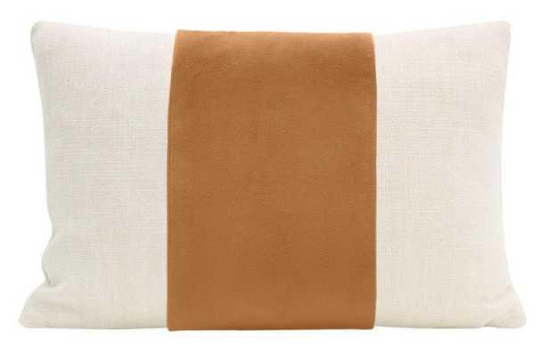 "The Little Lumbar Panel Classic Velvet Pillow Cover, Tuscan, 12"" x 18"" - Little Design Company"