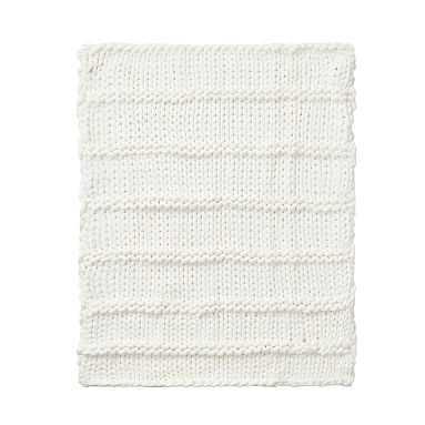 Super Chunky Knit Throw, 45X55, Ivory - Pottery Barn Teen
