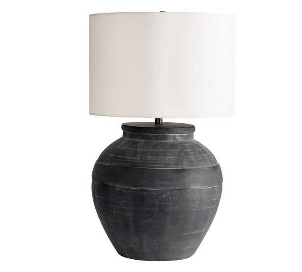 Faris Ceramic Table Lamp, Black, Large - Pottery Barn
