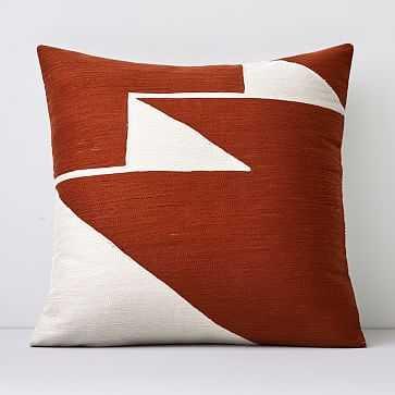 "Crewel Steps Pillow Cover, Copper, 18""x18"" - West Elm"