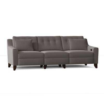 "Medora Cotton Reclining 88"" Square Arm Sofa - Birch Lane"