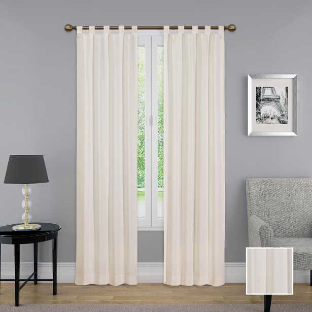Pairs to Go Montana 95 in. L Polyester Tab Top Drapery Panel Pair in Natural - Home Depot