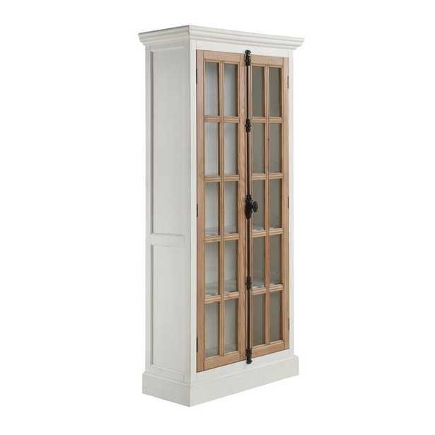 Deven Display Stand, Antique White & Brown - Wayfair