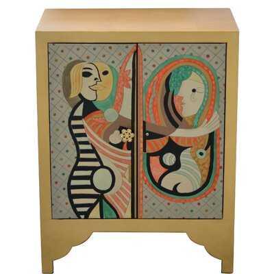 Chane Picasso 2 Door Accent Cabinet - Wayfair