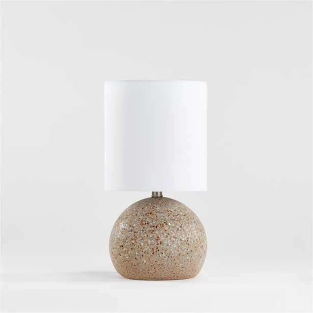 Grey Terrazzo Table Lamp - Crate and Barrel
