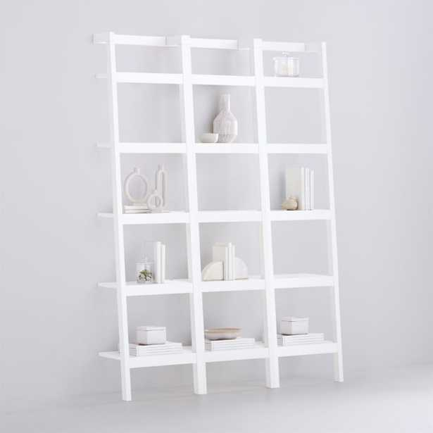 Sawyer White Leaning 18'' Bookcases, Set of 3 - Crate and Barrel