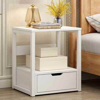 Ambor 1- Drawer Nightstand in White - Wayfair