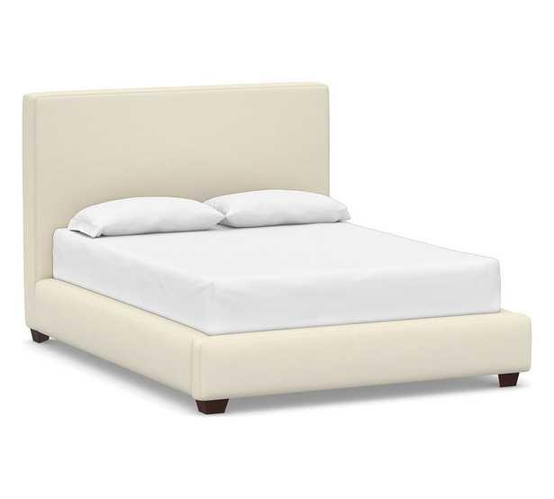 Big Sur Upholstered Bed, King, Park Weave Ivory - Pottery Barn