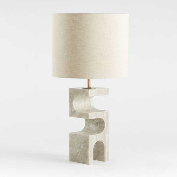 Boveda Stone Table Lamp - Crate and Barrel