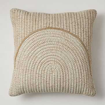"""Outdoor Woven Arches Pillow, 20""""x20"""", Natural, Set of 2 - West Elm"""