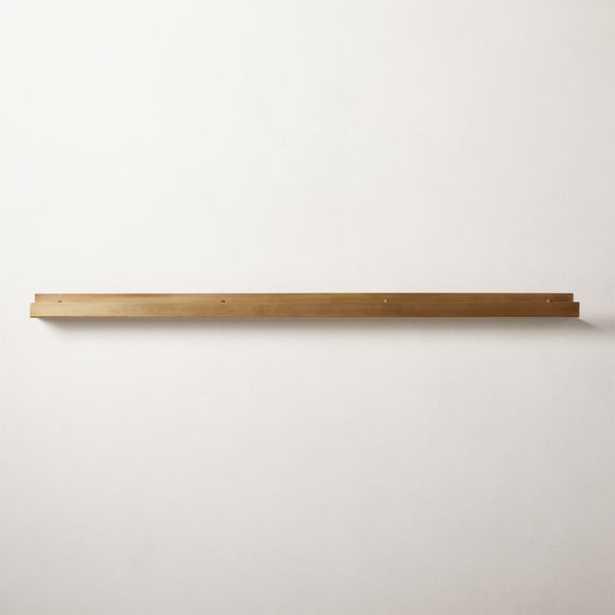 "Metal Wall Ledge Antique Brass 48"" - CB2"