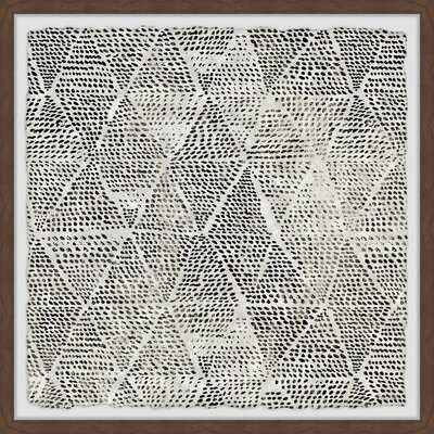'Black Triangles' - Picture Frame Painting Print on Paper - Wayfair