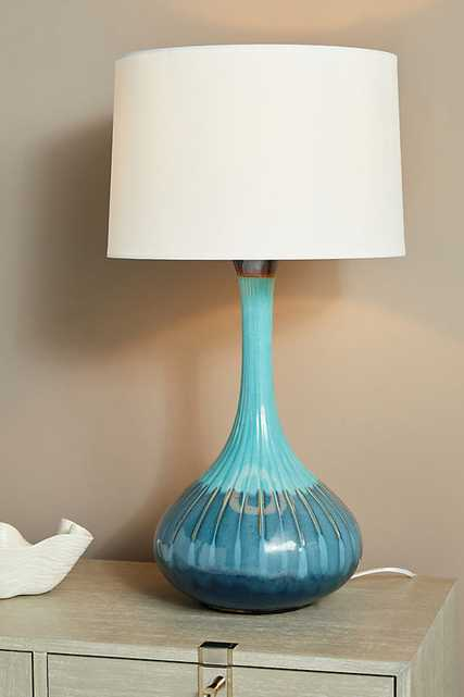 Adira Table Lamp By Anthropologie in Blue - Anthropologie