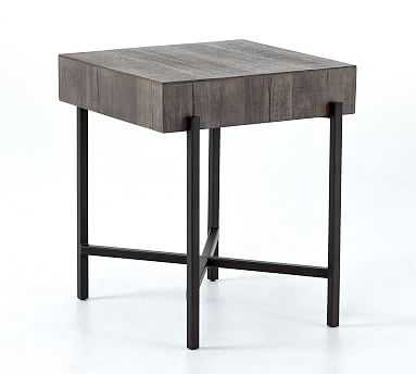 Fargo Reclaimed Wood End Table, Distressed Gray - Pottery Barn