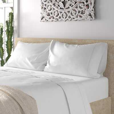 Ouatchia 300 Thread Count Solid Color 100% Cotton 4 Piece Sheet Set - Wayfair