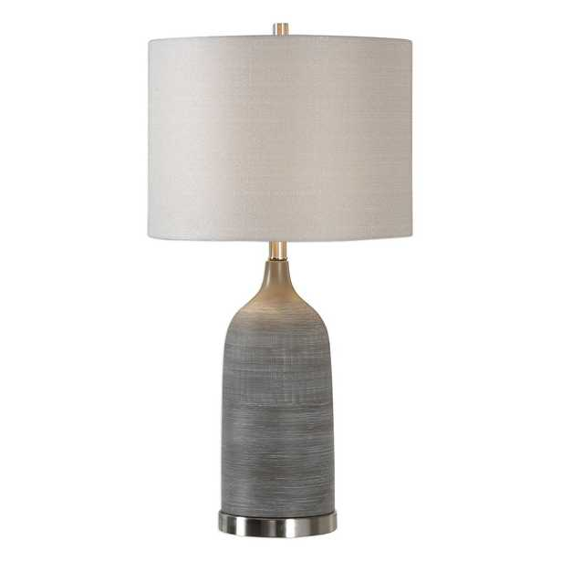 Olive Bronze Ceramic Table Lamp - Hudsonhill Foundry