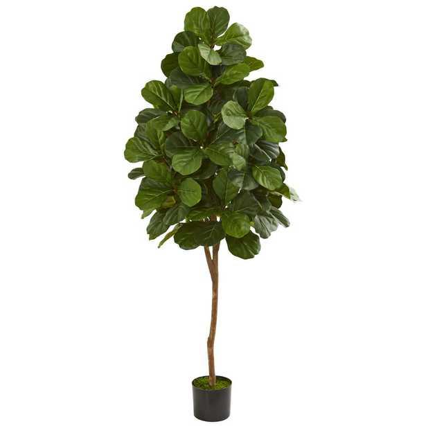 Indoor 6 ft. Fiddle Leaf Fig Artificial Tree - Home Depot