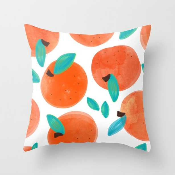 """Coral Fruit #painting #pattern Couch Throw Pillow by 83 Orangesa(r) Art Shop - Cover (20"""" x 20"""") with pillow insert - Outdoor Pillow - Society6"""