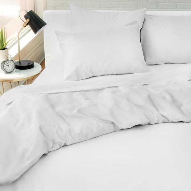 WELHOME The Kensington Cotton White Full/Queen Duvet Set - Home Depot