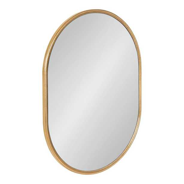 Kate and Laurel Caskill Oval Gold Wall Mirror - Home Depot