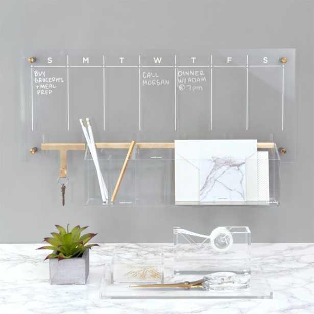 Russell + Hazel Acrylic Weekly Dry-Erase Calendar - Crate and Barrel