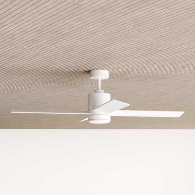 """52"""" Malta 4 Blade Ceiling Fan with Remote, Light Kit Included - AllModern"""