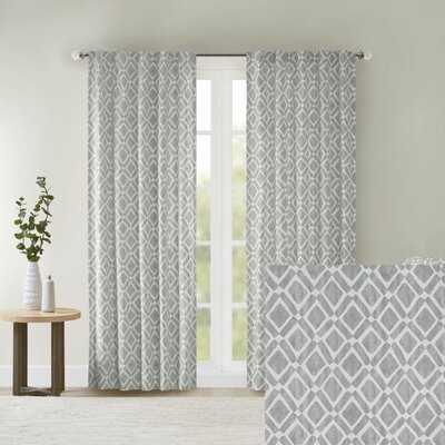Meka Geometric Semi-Sheer Rod Pocket Single Curtain - Birch Lane