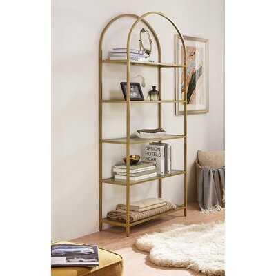 Mcandrew 72.2'' H x 32.7''W  Metal Etagere Bookcase - Wayfair