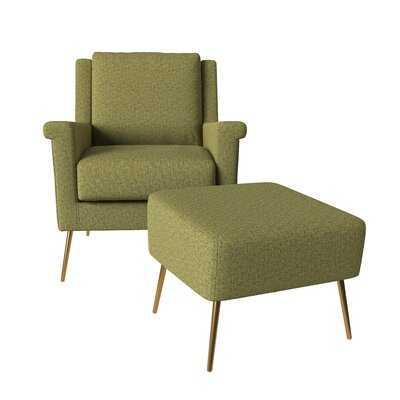 """Dever Mid Century 20.5"""" Armchair and Ottoman - Wayfair"""
