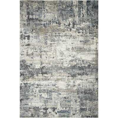 Romig Abstract Ivory/Teal Area Rug - Wayfair