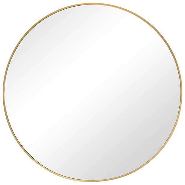 Brushed Gold Circle Mirror - Hudsonhill Foundry