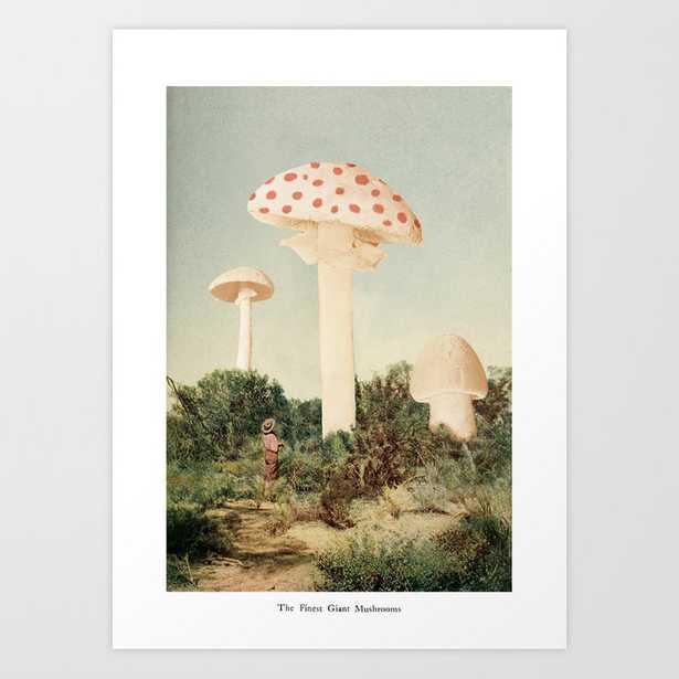 The Finest Giant Mushrooms Art Print by Florent Bodart / Speakerine - SMALL - Society6