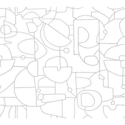 "Laverock Robotics 20' L x 27"" W Smooth Peel and Stick Wallpaper Roll - AllModern"