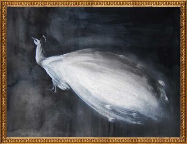 White Peacock by Christine Lindstrom for Artfully Walls - Artfully Walls